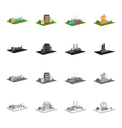 power plant organization and other web icon in vector image
