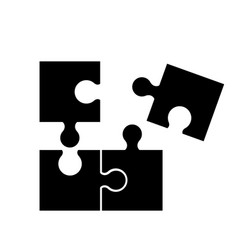 Puzzel of black icons good game skill vector