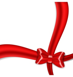 Red ribbon bow isolated on white background vector image