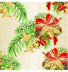 Seamless texture christmas decorative spruce vector