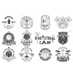 Set of basketball club badge concept for vector