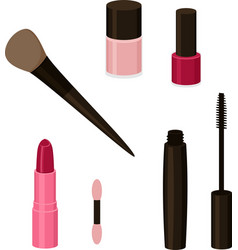 simple set of cosmetics related vector image