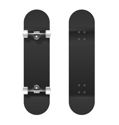 skateboarding realistic 3d black blank vector image