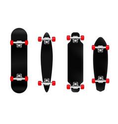 skateboards realistic set vector image