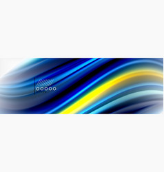 Smooth liquid blur wave background color flow vector