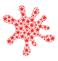 Splash shape of five-pointed star icons vector