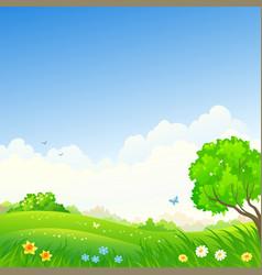Spring square landscape vector