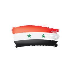 Syria flag on a white vector