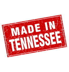 Tennessee red square grunge made in stamp vector