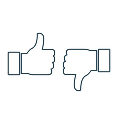 thumbs up and down social media icons vector image