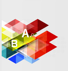 Triangle geometric infographic banner vector