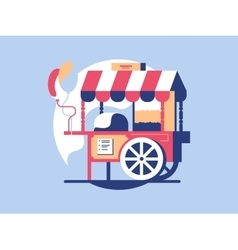 Trolley with popcorn vector