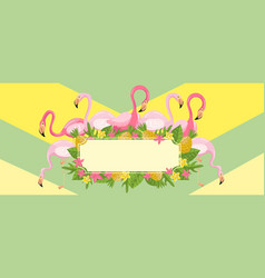 tropical summer time horizontal banners design vector image