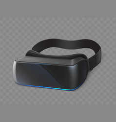 vr glasses virtual reality goggles mobile device vector image