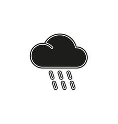 weather storm sun rain symbol - weather storm vector image