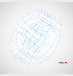 with technical drawing wheel vector image