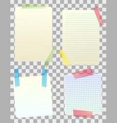 blank paper notes vector image