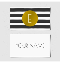 Business card template in golden black and white vector image vector image