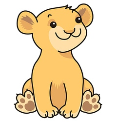 Cartoon lion baby vector