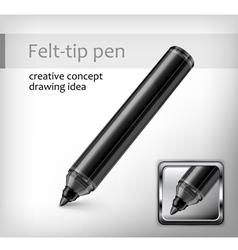 felt tip pen idea vector image vector image