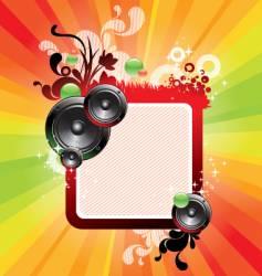 frame loudspeakers vector image vector image