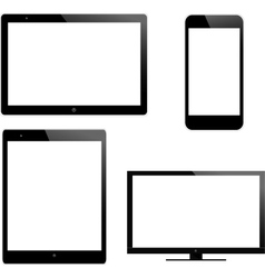 Laptop and mobile vector image vector image