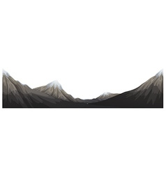 Mountains range with snow on top vector image