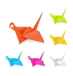 Origami cranes vector