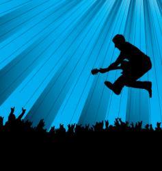 band jump vector image