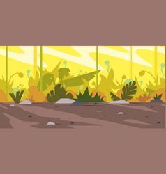 jungle game background landscape vector image vector image