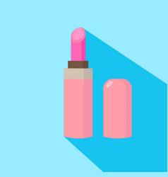 lipstick cartoon isolated vector image vector image