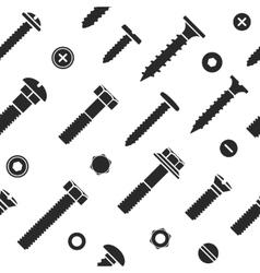 Nut and bolt head icons seamless vector