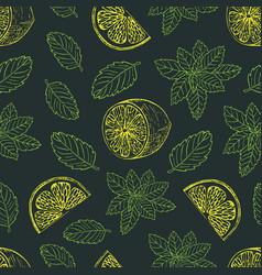 tea pattern-05 vector image vector image