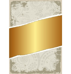 dirty and gold background vector image vector image