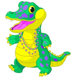 Mardi gras alligator vector