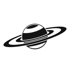 Saturn rings icon simple style vector image