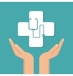 stethoscope icon design vector image vector image