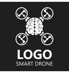 Brain icon logo badge drone vector image