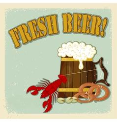 Fresh Beer Menu vector image vector image