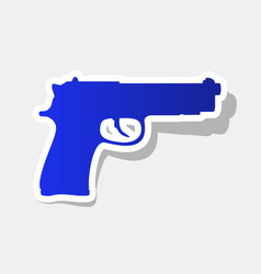 gun sign new year bluish vector image