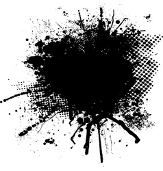 ink splodge vector image