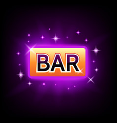 bar slot icon with sparkles for online casino or vector image