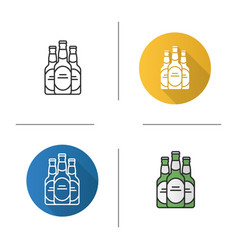 Beer bottles icon vector