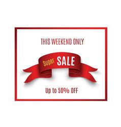 big sale bannersuper sale banner ribbon vector image