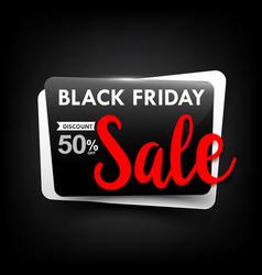 Black friday web tag banner promotion sale vector