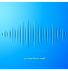 Blue paper sound waveform with shadow vector