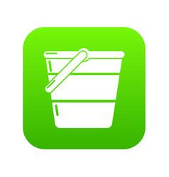 bucket icon green vector image