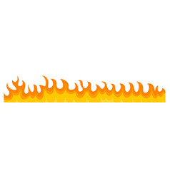 burning fire banner horizontal flat style vector image