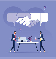 Business agreement concept vector