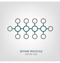Butane Molecule Icon vector image